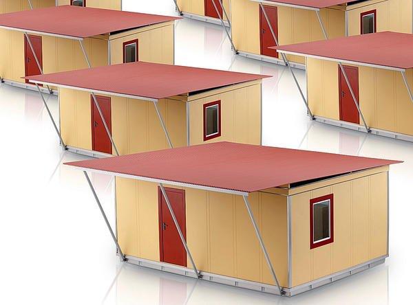 kraussmaffei hat fertighauskonzept aus sandwich paneelen f r katastrophengebiete entwickelt. Black Bedroom Furniture Sets. Home Design Ideas