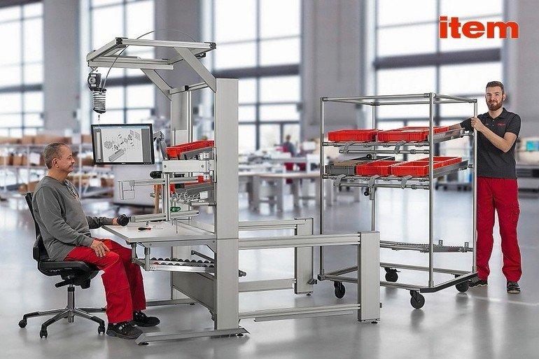 arbeitsplatzgestaltung ergonomischer arbeitsplatz mit fifo. Black Bedroom Furniture Sets. Home Design Ideas