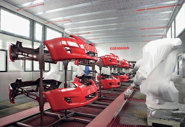 Kunststoffoberflachen Roboter Lackieren Anbauteile Fur Den Kia
