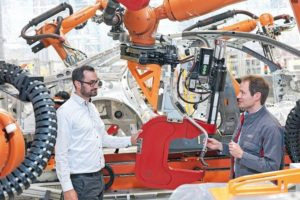 """Predicting_the_future:_Mathias_Mayer_(left)_and_Andreas_Rieker_(right)_developed_""""Predictive_Maintenance""""_to_predict_wear_before_it_becomes_apparent_in_production_equipment"""