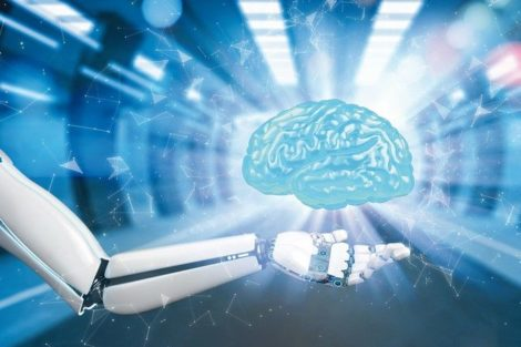 Robot_hand_with_hologram_of_the_human_brain._3d_illustraton.
