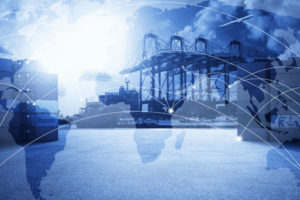 Multiple_exposures_effect_of_world_map_and_logistic_network_distribution_with_container_cargo_freight_ship_in_shipyard_port_background_,transportation_trading_business_concept_.