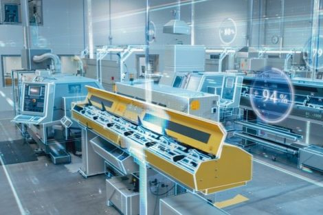 Futuristic_Design:_Factory_Digitalization_with_Information_Lines_Lying_Through_the_High-Tech_Modern_Electronics_Facility._CNC_Automatic_Machinery_Manufacturing_Products_Using_IoT_Industry_4.0