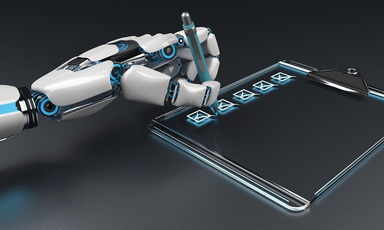 A_robot_hand_with_the_checklist_on_the_clipboard._3d_illustration.