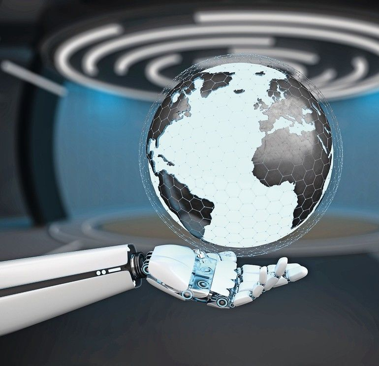 Humanoid_robot_hand_with_a_globe_in_the_hand._3d_illustration.