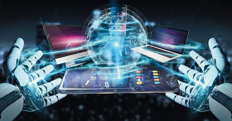 Modern_devices_connected_to_each_other_in_robot_hand_3D_rendering