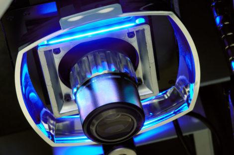 Untersicht_eines_Vierquadranten-Ringlichts_an_einem_Bildverarbeitungsmessgerät