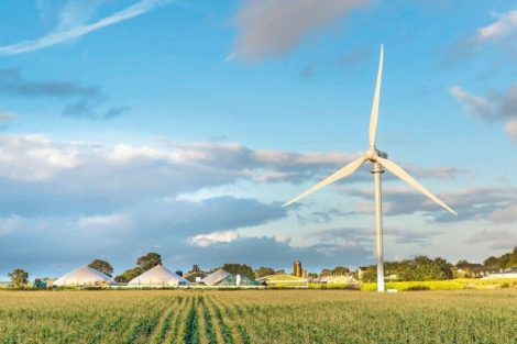 Kompaktes Windrad für den Strom-Eigenbedarf