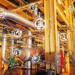 Industry_4.0_concept_image._industrial_instruments_in_the_factory_with_cyber_and_physical_system_icons_,Internet_of_things_network,smart_factory_solution