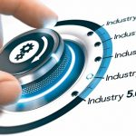 Hand_turning_a_knob_with_gears_icon_over_white_background._Concept_of_industrial_revolutions_steps_and_industry_4.0._Composite_image_between_a_photography_and_a_3D_background.