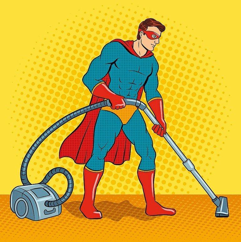 Superhero_with_vacuum_cleaner_pop_art_retro_vector_illustration._Comic_book_style_imitation.
