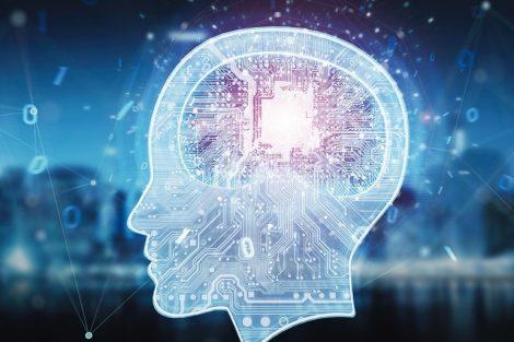 Artificial_intelligence_digital_brain_on_blue_city_background_3D_rendering