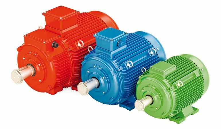 Set_of_industrial_electric_motors,_3D_rendering_isolated_on_white_background