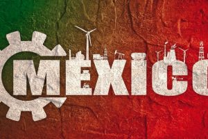 Energy_and_Power_icons._Sustainable_energy_generation_and_heavy_industry._Mexico_word_decorated_by_gear._Grunge_distress_texture.