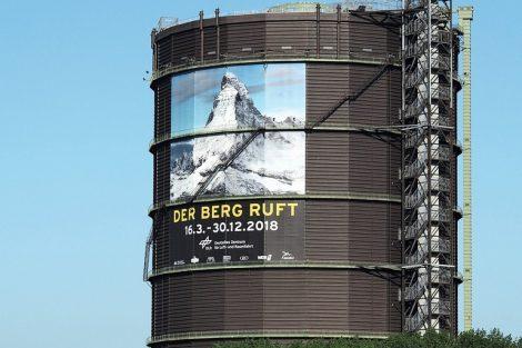 """Gasometer_Oberhausen,__Ausstellung_""""Der_Berg_ruft"""",_2018_Foto:_Thomas_Machoczek"""