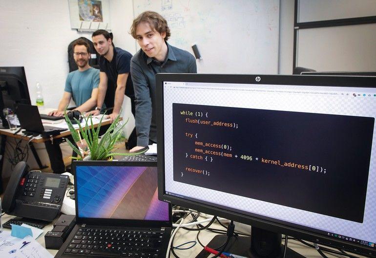 TU_Graz,Secure_Systems,_Team,_Daniel_Gruß,_Michael_Schwarz,Moritz_Lipp