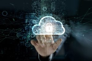 businessman_touching_Cloud_with_Padlock_icon_on_network_connection,_digital_background._Cloud_computing_and_network_security_concept