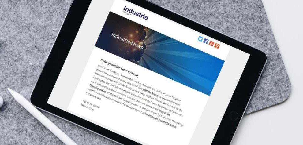 Newsletter Industrieanzeiger