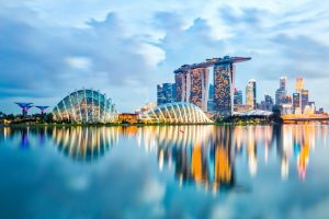Singapore_City,_Singapore_-_July_17,_2015:_Marina_Bay_is_a_bay_near_Central_Area_in_the_southern_part_of_Singapore,_and_lies_to_the_east_of_the_Downtown_Core._The_area_surrounding_the_bay_itself,_also_called_Marina_Bay