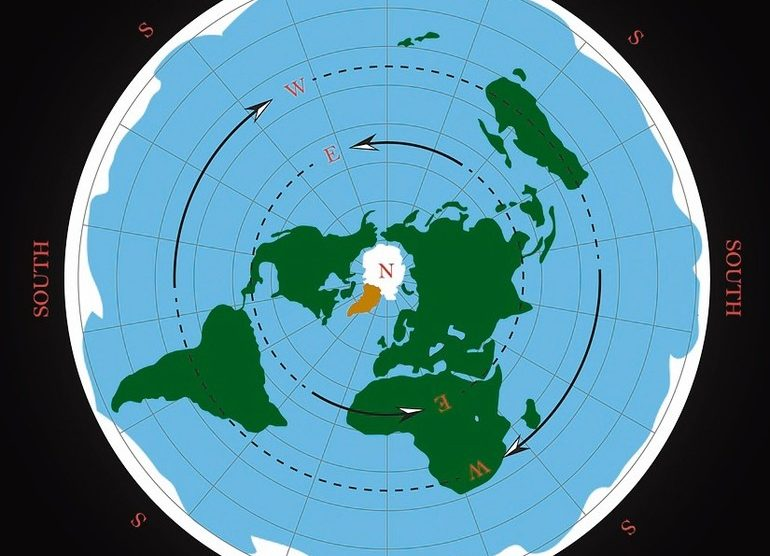 Cardinal_direction_on_flat_earth_map._Isolated_vector_illustration
